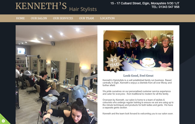 Click to view Kenneth's Hair Stylists Website