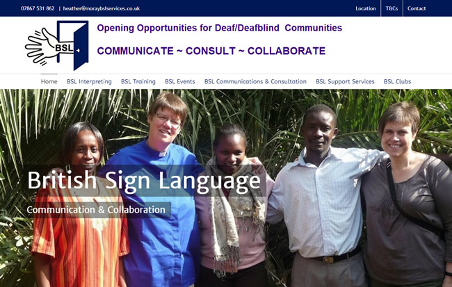 Click to view the Moray British Sign Language Website