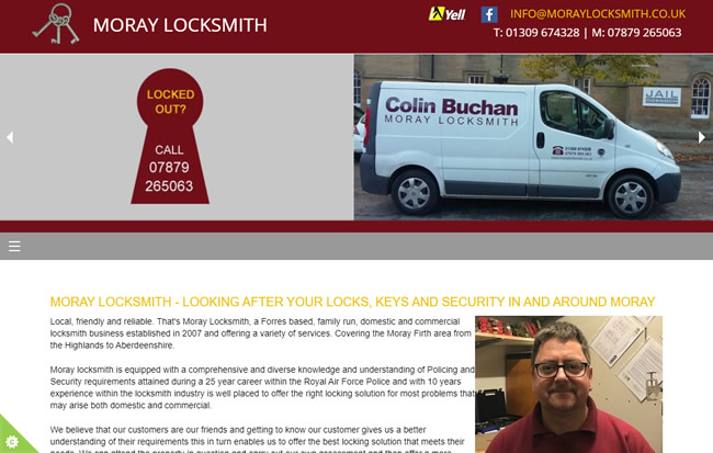 Click to view the Moray Locksmith Website