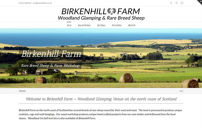 Click to view the Birkenhill Farm Website