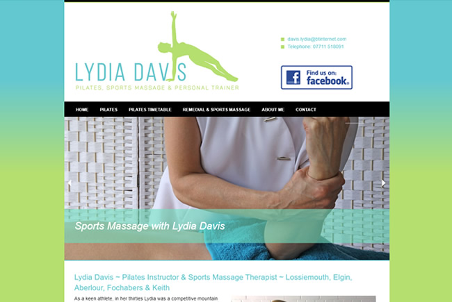 Lydia Davis - Pilates, sports massage, therapy